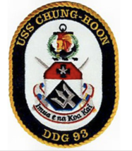 "5"" NAVY USS DDG-93 CHUNG-HOON EMBROIDERED PATCH - $23.74"