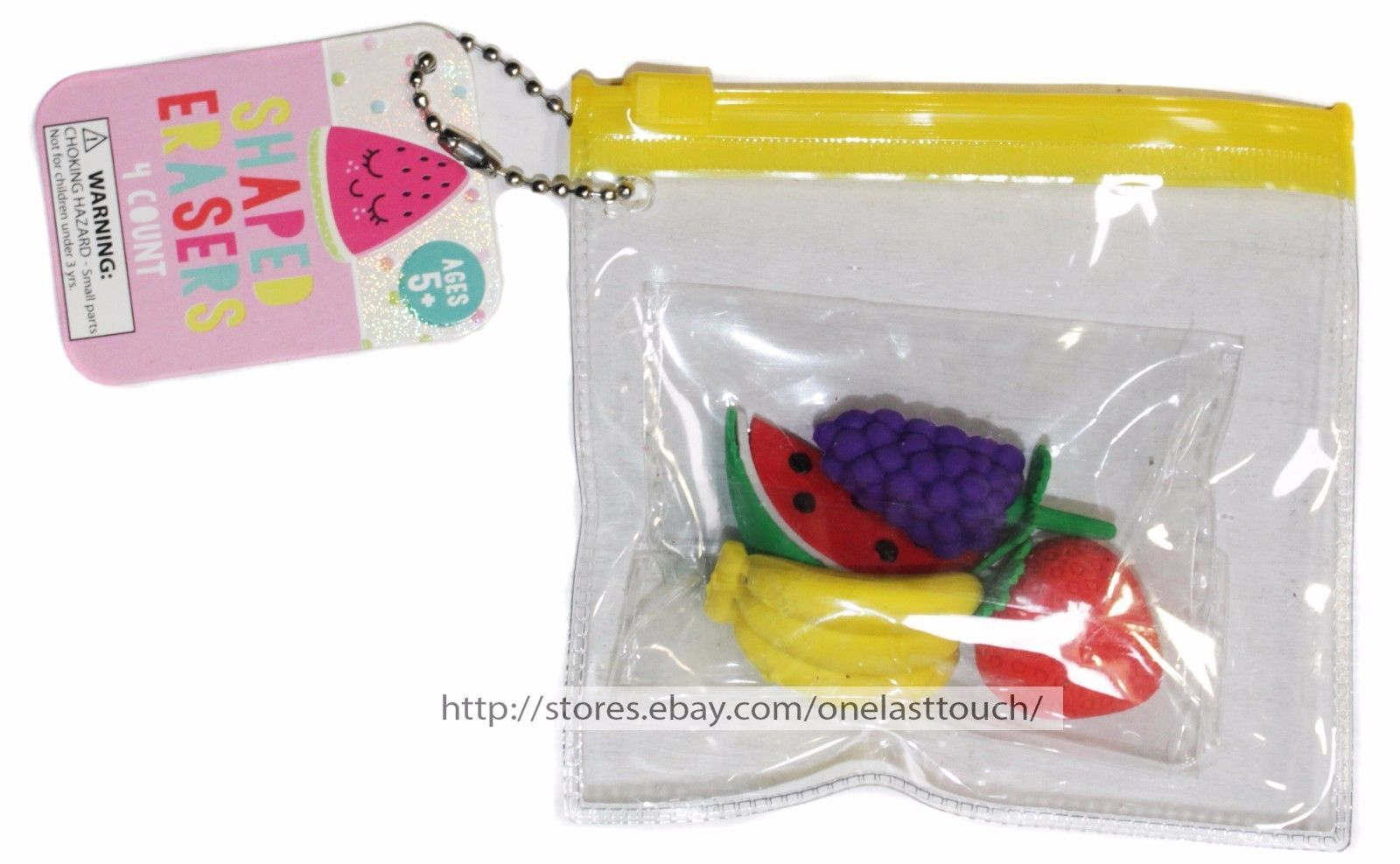MADE FOR RETAIL 4pc SHAPED ERASERS+PENCIL TOPPERS School Supplies *YOU CHOOSE*