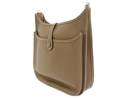 HERMES Evelyne 3PM Taurillon Clemence Etoupe #D Shoulder Bag France Authentic - $3,308.44