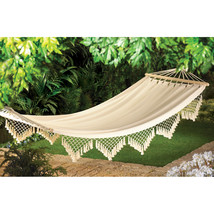 Cape Cod Cotton Canvas Hammock w/ Spreader Bar  - $56.95