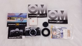 Olympus OM10 SLR Camera Body Only with Accessories UNTESTED As Is Manual... - $46.39