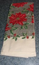 Brand New Christmas Poinsettia Kitchen Towel For Cocker Spaniel Rescue C... - $7.34