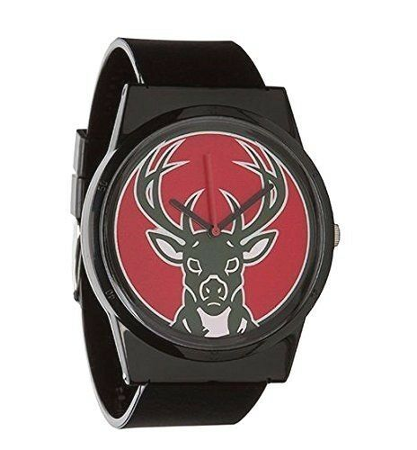 Flud Pantone NBA Black Milwaukee Bucks Watch Basketball Official License
