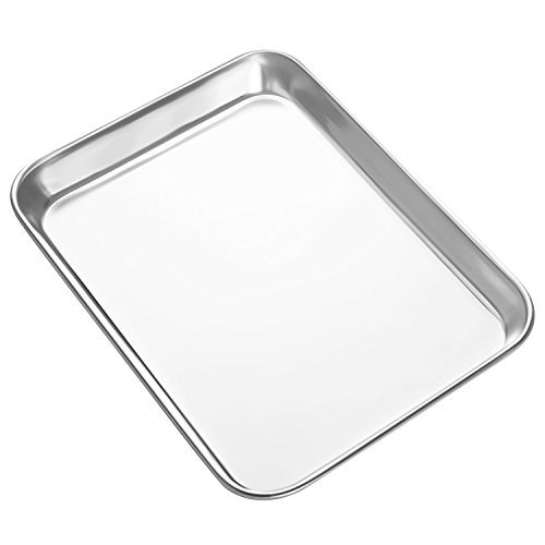 Heahysi Mini Stainless Steel Baking Sheets Small Cookie
