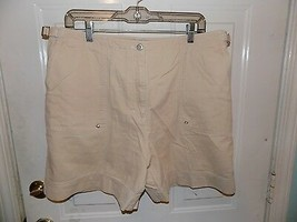 Ralph Lauren Polo J EAN S Light Tan Shorts Size 16 Women's Euc - $19.75