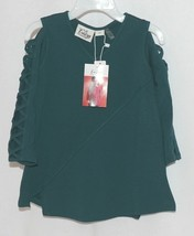 Simply Noelle Curtsy Couture Girls Cutout Long Sleeve Shirt Misty Blue 2T image 1