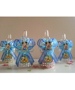 12 Baby Mickey Mouse, Baby Pluto  Fillable Bottles Baby Shower  Boy Deco... - $18.99