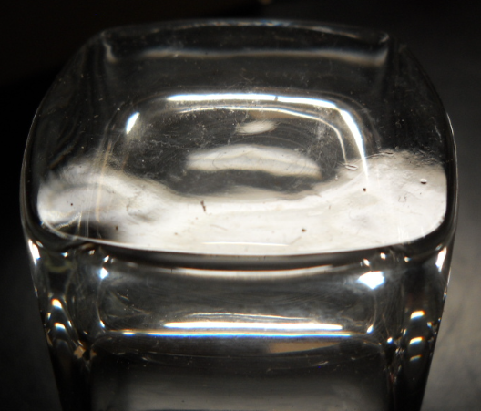 Clear Glass Shot Glasses Set of Six Square Style Double Size Heavy Base Boxed