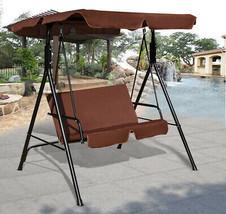 Garden Love Seat Swing Bench Patio Canopy Seat Tent Tilt Top Shade Steel... - $154.12