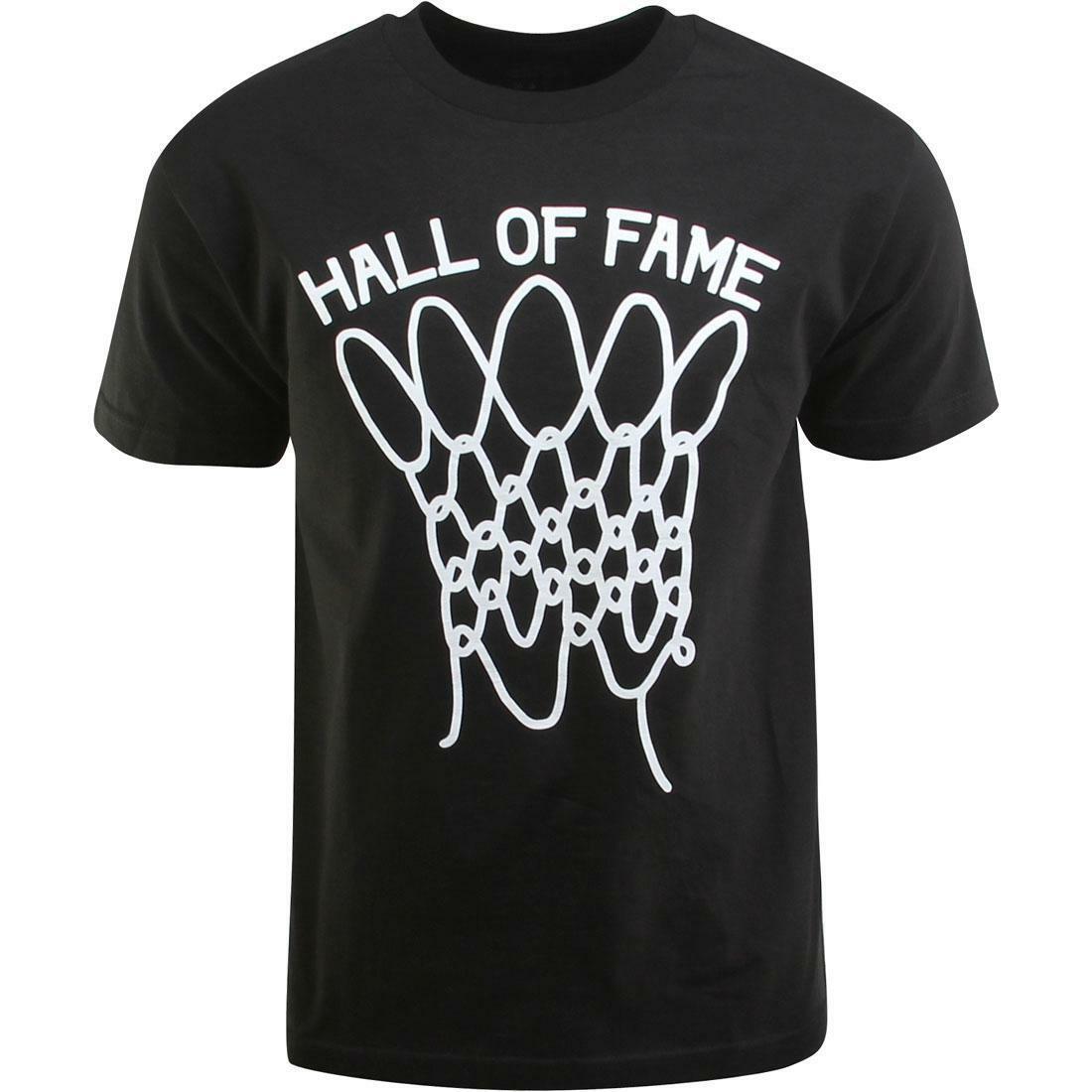 Hall of Fame HOF Mens Black Nothing But Net Basketball Shot T-Shirt NWT