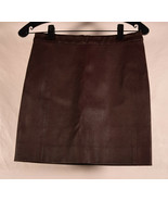 Vince Womens Leather Mini Skirt Brown S New - $198.00