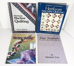 LOT of 4 Quilt Books MACHINE QUILTING Hargrave Feathers Fons Made Easy N... - $18.80