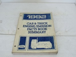 1992 Ford Car & Truck Repair Manual Engine & Emissions Facts Book and Summary - $14.80