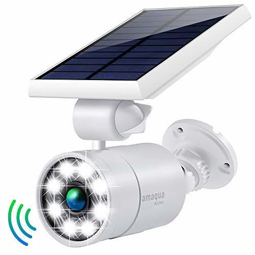 Solar Motion Sensor Lights Outdoor 1400-Lumens 9-Watt110W Equiv. Aluminum Auto O