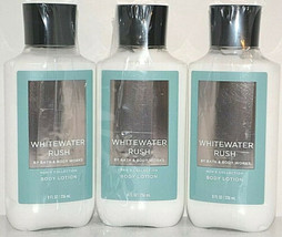 3 Bath and Body Works Men's Collection Whitewater Rush Lotion 8 oz ea New Sealed - $27.83