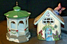 House Village (Candle Holders) AA20-2061 Vintage Pair image 1