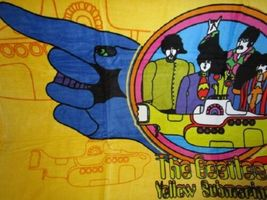 THE BEATLES YELLOW SUBMARINE BEACH TOWEL 30X60 INCHES 100% COTTON OFFICIAL OOP image 2