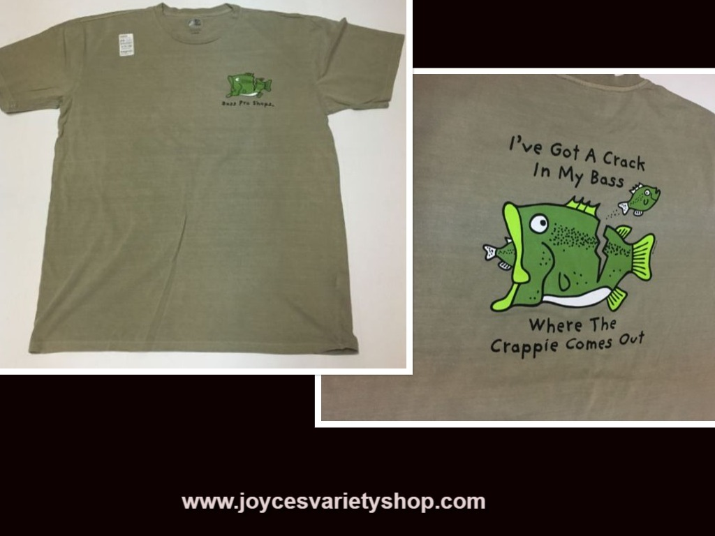 "Fishing Bass Pro Shop TShirt ""Crack In My Bass"" NWT Sz Large"