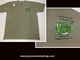 "Fishing Bass Pro Shop TShirt ""Crack In My Bass"" NWT Sz Large - $9.99"