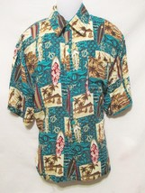 ROYAL CREATIONS Men's Hawaiian Style Shirt Large Surfboard Handmade Crui... - $28.00