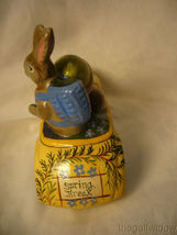 Vaillanc/2ourt Folk Art Spring Break Santa in a Car with  Bunny Signed no.18018 image 4