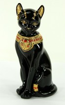 Lenox Bastet, The Egyptian Cat Figurine, Black Porcelain, 24K Gold Accen... - $24.99