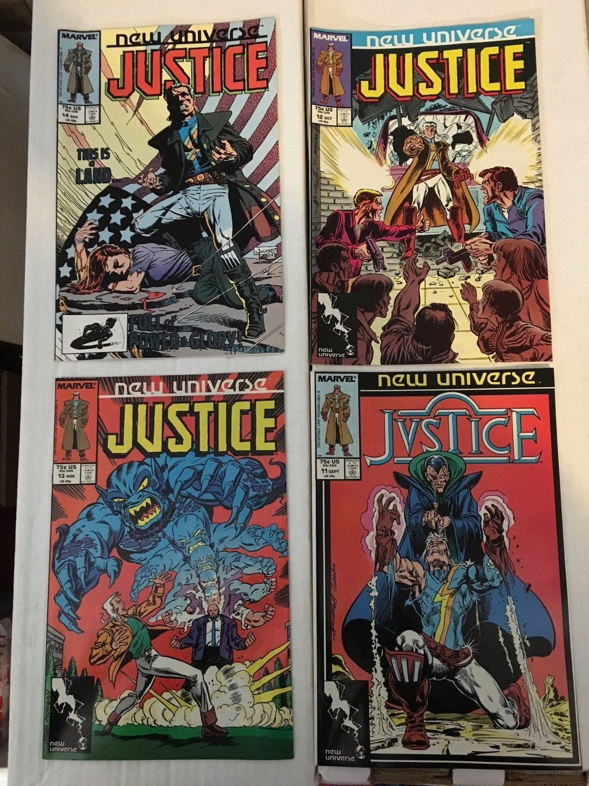 JUSTICE 1 - 32 New Universe Marvel Comic Book COMPLETE SET 32 Comics 1986-89 NM