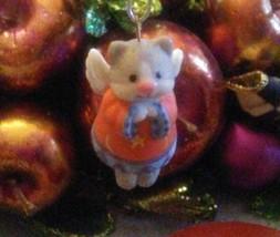 Hallmark Mini 1999 Keepsake Ornament Celestial Kitty Fine Porcelain Ange... - $12.60