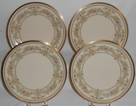 Set (4) Lenox CASTLE GARDEN PATTERN Salad Plates MADE IN USA - $118.79