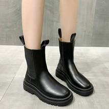 PUIMENTIUA Mid-calf Boots Comfortable Shoes Elegent Lace-up Platform Boots Ne... - $23.74+