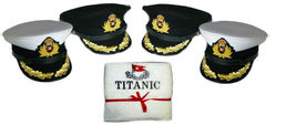 White Star Cruise Ship Titanic Captain Smith Hat First Class Courtesy Towel Set - $148.00