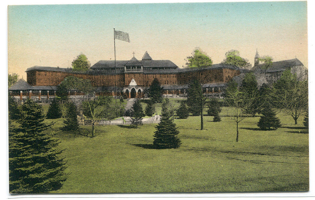 St Francis Health Resort Denville New Jersey handcolored Albertype postcard