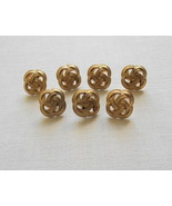 Set of 7 Sewing Craft Gold Tone Celtic Square Knot Design Buttons-Free S... - $6.00
