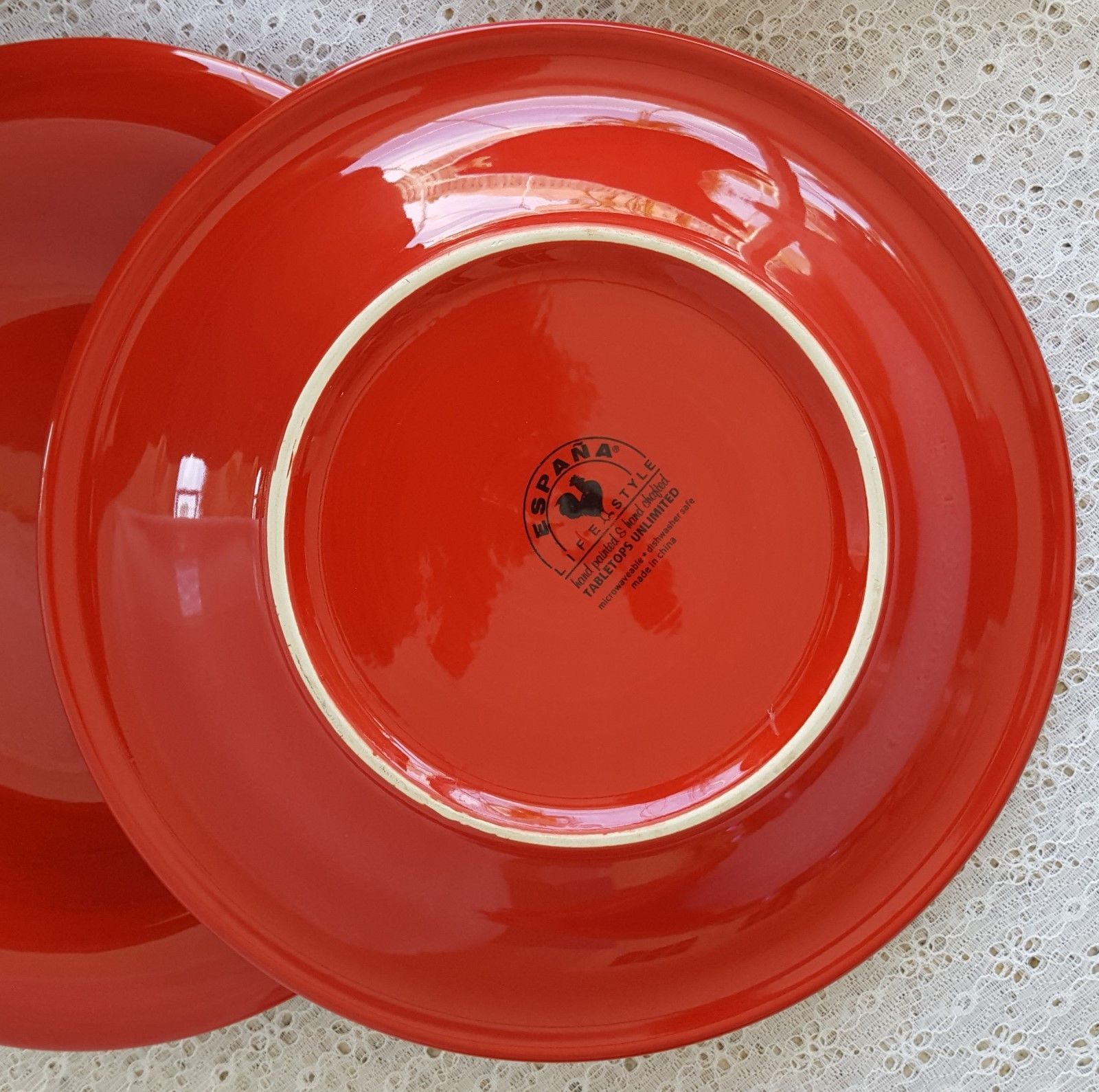 ... Tabletops LIfestyle Unlimited Espana Blaze Red Dinner Plates Set of 5 Stoneware & Tabletops LIfestyle Unlimited Espana Blaze and 50 similar items
