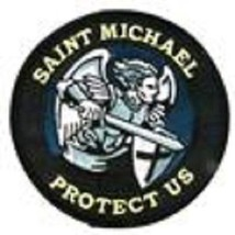 Saint Michael Protect Us Blue Patch With Vel Backing - $11.87