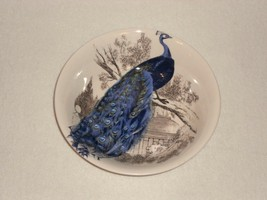 Carly Dodsley Blue PEACOCK GARDEN Round Serving Bowl 9 inch - $14.84