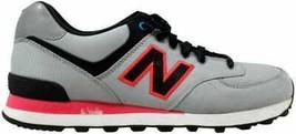 New Balance 574 Windbreaker Grey/Black-Pink  Men's ML574WPG Size 8 Medium - $43.30