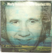 Marty Robbins All Time Greatest Hits Vinyl LP Record Missing One Album - $10.99