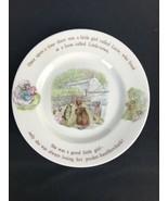 Beatrice Potter Peter Rabbit Mrs. Tiggy Winkle Wedgwood Nursery Ware Pla... - $28.01
