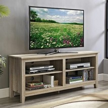 NEW Natural TV Stand Home Entertainment Media Audio Storage Cabinet Cent... - $170.18