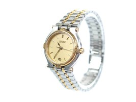 Auth GUCCI 9000L Date Gold Plated Stainless Steel Ladies Watch GW2639L - $250.78 CAD