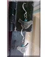 Girls Earrings Fashion Dangle Charm Little BLUE BIRD Steampunk STERLING ... - $12.98