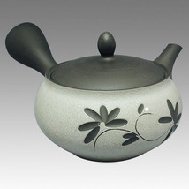 Tokoname Kyusu teapot - TOYO - Vine Flower 300cc - obi ami stainless ste... - $79.46