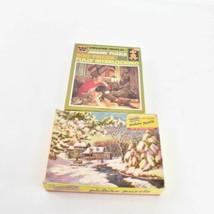 Lotto 2 Vintage Whitman Immagine Puzzle 500 Pz Puzzle Completo - $31.17