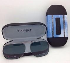 COCOONS Grey Polarized Sunglasses/Eyeglasses Over Rx Clip-on SQR 1-54 Gunmetal