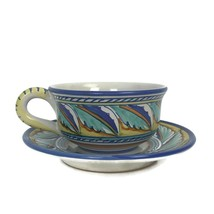 Starbucks Coffee Company Deruta Italy Handpainted Multi Color Cup & Sauc... - $23.33