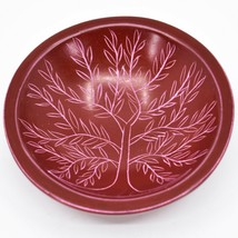 Tabaka Chigware Hand Carved Kisii Soapstone Red Tree of Life Trinket Bowl Kenya image 1