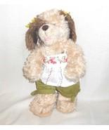 Build A Bear Shaggy Dog Puppy 16 inch Stuffed Plush Toy Animal Brown Tan... - $19.77