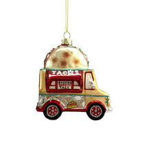 Darice Christmas Glass Ornament: Taco Truck, 4 x 2.75 inches w - $11.99