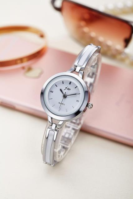 New Fashion Rhinestone Watches Women Luxury Brand Stainless Steel Bracelet watch image 9